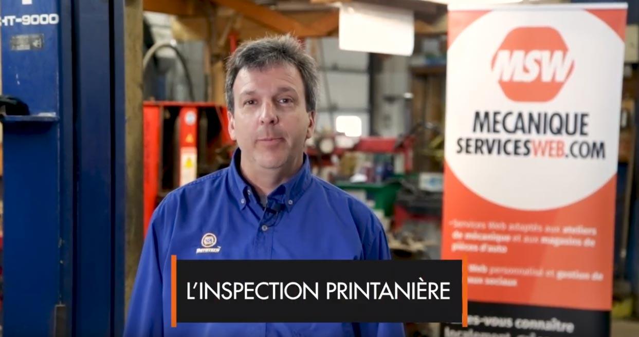 Inspection printanière : Partie 1